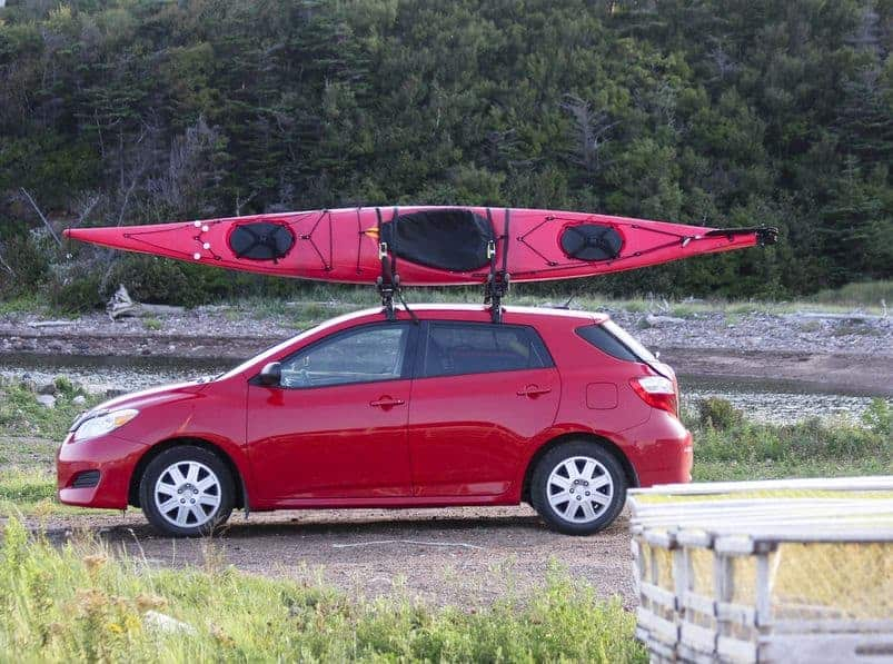 transporting kayaks on a small car