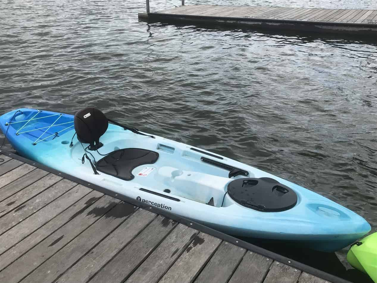 Getting in a kayak from a dock